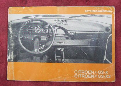 operating instructions Citroen GS-X/ GS-X2, used
