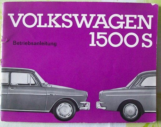 Operating Instructions VW 1500S, edition 1964, used