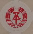 DDR Adhesive Badge Technical examination red 1987 to 1990, new old stock