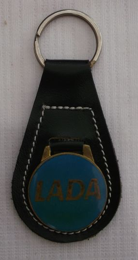LADA Keyring black/blue, New old stock DDR, Condition 2