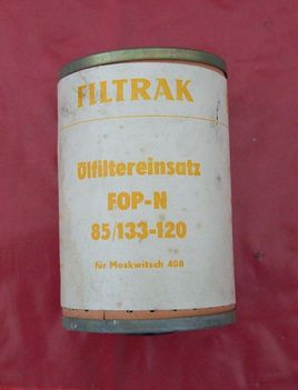 Moskvich 408 oil filter, new old stock