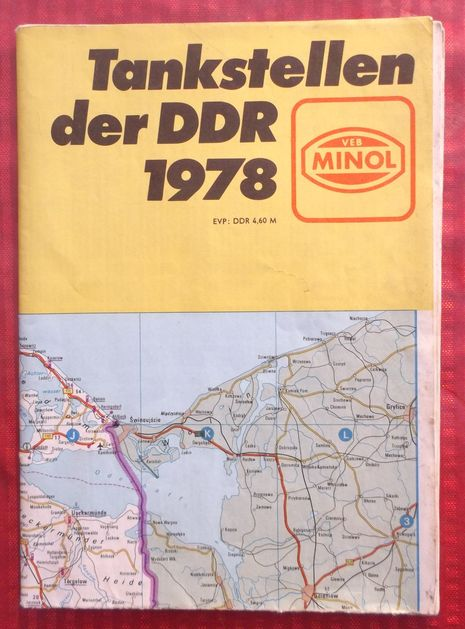 Map Gas stations of the GDR 1978