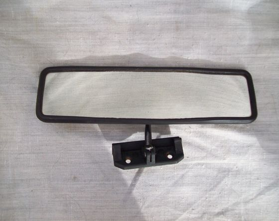 Trabant/ Wartburg interior mirror, with cover for sun visor, used