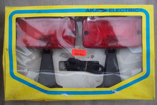 AKA auxiliary brake lights, new stock goods from the GDR